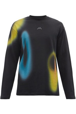 Greater than A Cold-Wll* - Hypergrphic Cotton-jersey Long-sleeved T-shirt - Mens - Blck