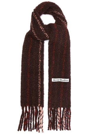 Acne Studios Vadik Alpaca-blend Bouclé Scarf - Womens - Multi