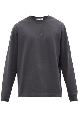 Acne Studios Men Long Sleeve - Extorr Logo-print Cotton Long-sleeved T-shirt - Mens