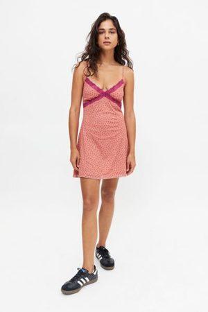 Urban Outfitters Women Party Dresses - UO Lace Trim Mesh Mini Dress