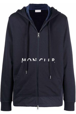 Moncler Men Hoodies - Logo-print zip-up hoodie