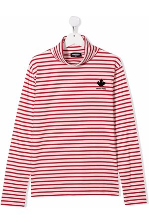 Dsquared2 TEEN striped roll-neck jumper