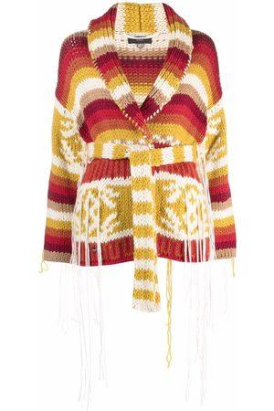 Alanui Intarsia-knit cardi-coat - Neutrals