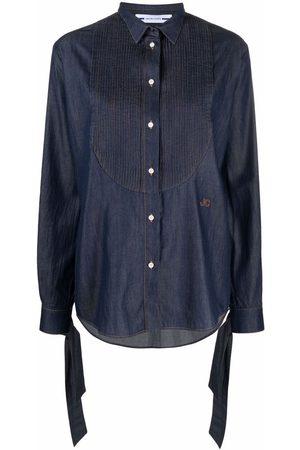 Jacob Cohen Women Denim - Plated front bib denim shirt