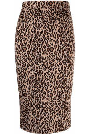 Pinko Leopard print pencil skirt - Neutrals