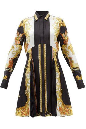 VERSACE Women Casual Dresses - Baroque-print Silk Shirt Dress - Womens - Multi