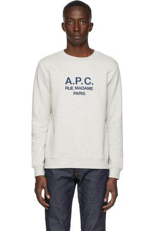 A.P.C. Men Sweatshirts - Grey Rufus Sweatshirt