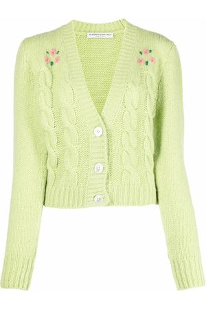 Alessandra Rich Women Cardigans - Cable-knit embroidered cardigan
