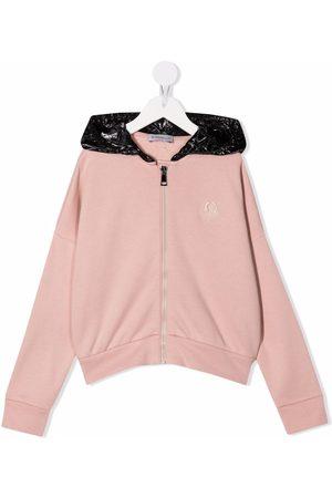 Moncler Girls Hoodies - Contrast-panel hoodie