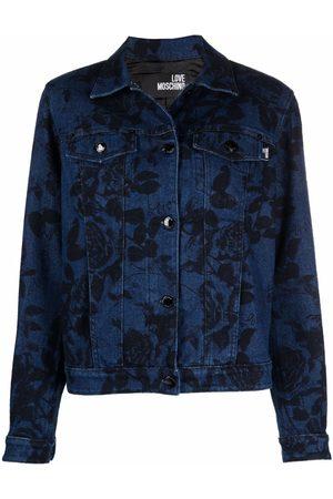 Love Moschino Floral print denim jacket