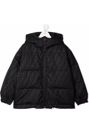 Fendi Boys Puffer Jackets - Monogram-print padded jacket