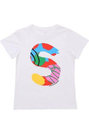 Stella McCartney Girls T-shirts - Printed Organic Cotton T-shirt