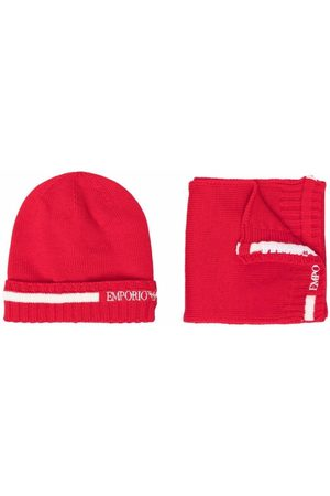 Emporio Armani Boys Hats - Logo-print hat set
