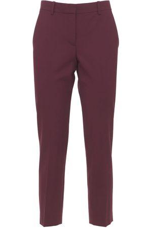 THEORY Women Straight Leg Pants - Treeca Wool Straight Crop Pants