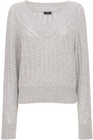 THEORY Women Sweaters - V Neck Cashmere Knit Sweater