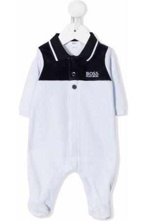 HUGO BOSS Colour-block embroidered logo pajama