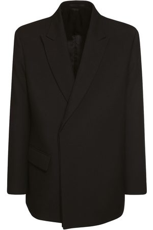 VALENTINO Double Breasted Virgin Wool Jacket