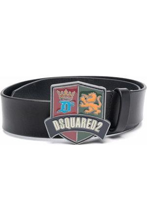 Dsquared2 Boys Belts - Logo-buckle leather belt