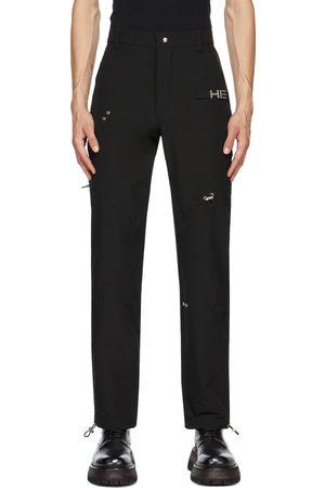 HELIOT EMIL Men Cargo Pants - Black Paneled Cargo Pants