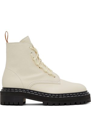 Proenza Schouler Women Lace-up Boots - White Lace-Up Boots