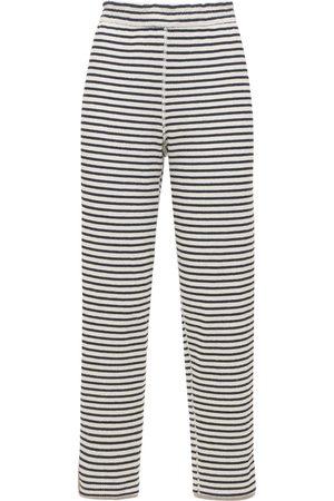THEORY Striped Cotton Jogger Pants