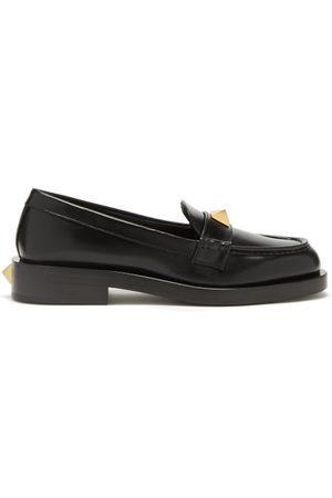 VALENTINO GARAVANI Roman Stud Leather Loafers - Womens