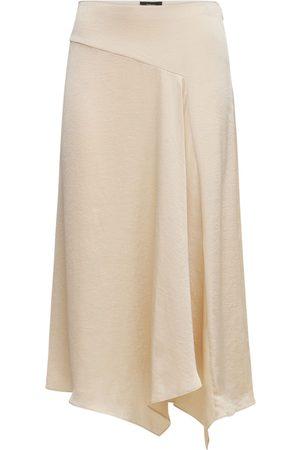 THEORY Asymmetric Satin Midi Skirt