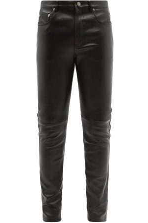 Saint Laurent Slim-leg Leather Trousers - Mens