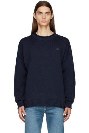 Kenzo Men Sweatshirts - Navy Seasonal Tiger Crest Sweater