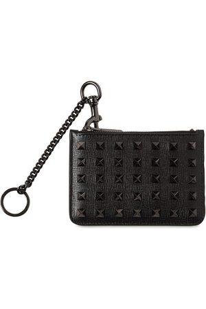 VALENTINO GARAVANI Ruthenio Studs Leather Card Case