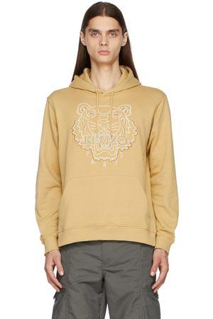 Kenzo Men Hoodies - Khaki Embroidered Tiger Hoodie