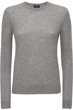 THEORY Women Sweatshirts - Crewneck Cashmere Knit Sweater