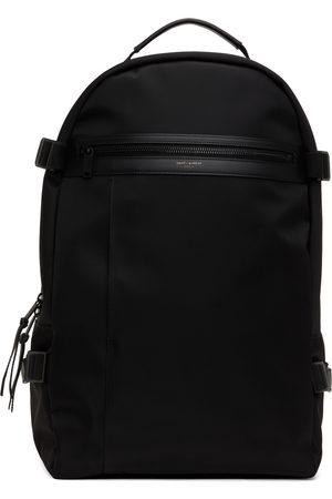 Saint Laurent Men Luggage - Black Nylon City Trekking Backpack