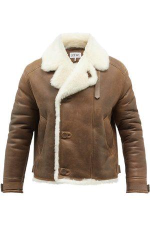 Loewe Double-breasted Shearling Jacket - Mens