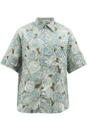 Acne Studios Men Shirts - Sale Floral-print Cotton-blend Shirt - Mens - Multi
