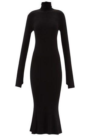 Norma Kamali Women Midi Dresses - High-neck Midi Dress - Womens