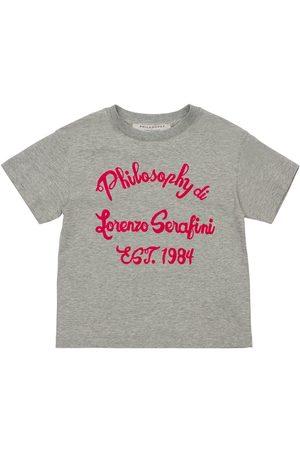 Serafini Logo Flocked Cotton Jersey T-shirt