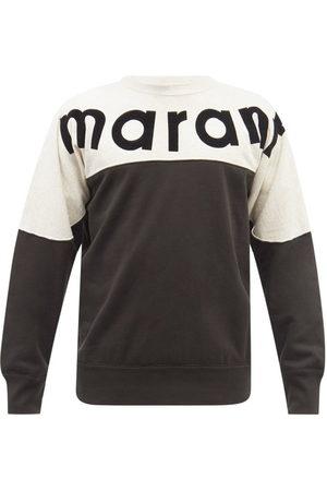 Isabel Marant Men Sports Hoodies - Howley Logo-print Cotton-blend Jersey Sweatshirt - Mens - Multi