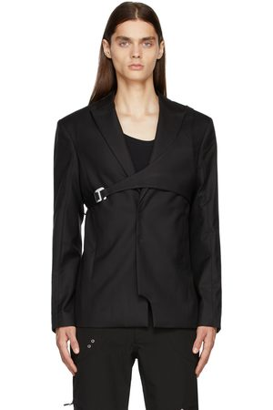 HELIOT EMIL Men Blazers - Black Wool Harness Blazer