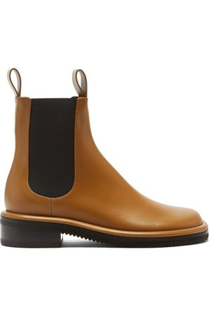 Proenza Schouler Pipe Leather Chelsea Boots - Womens - Tan