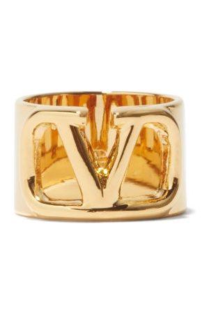 VALENTINO GARAVANI V-logo Cutout Ring - Womens