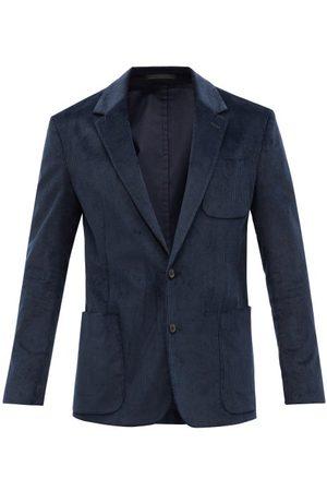 Paul Smith Cotton-blend Corduroy Suit Jacket - Mens - Navy