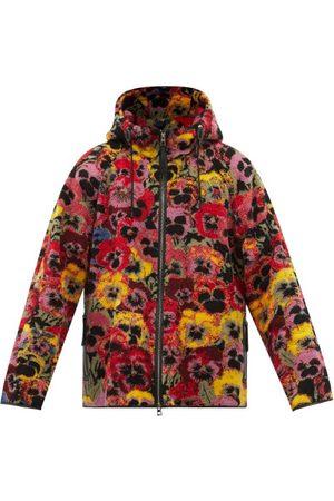 Loewe Pansy-print Hooded Fleece Jacket - Mens - Multi