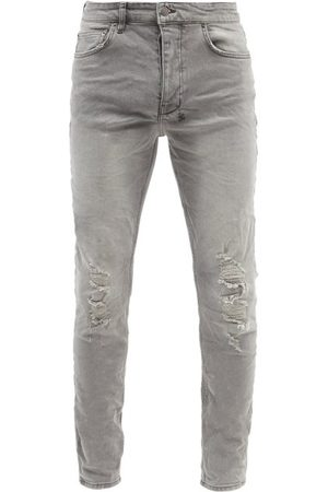 KSUBI Men Slim - Chitch Distressed Slim-leg Jeans - Mens - Grey