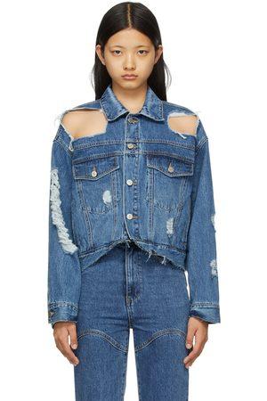 SJYP Women Denim Jackets - Denim Damaged Jacket