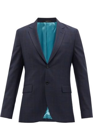 Paul Smith Men Blazers - Check Wool-twill Suit Jacket - Mens - Navy