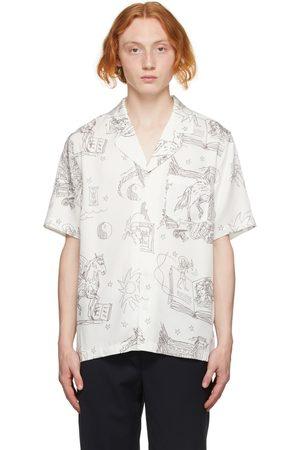 Soulland Men Short sleeves - White Graphic Orson Short Sleeve Shirt