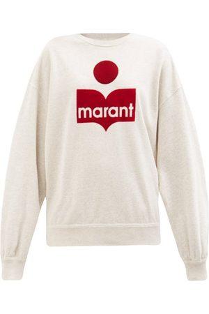 Isabel Marant Women Sweatshirts - Mindy Flocked-logo Cotton-blend Jersey Sweatshirt - Womens - Ivory