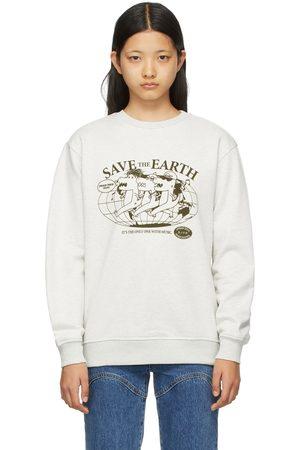 SJYP Women Sweatshirts - Grey 'Save The Earth' Dino Sweatshirt