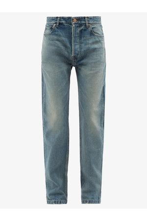 Balenciaga High-rise Straight-leg Jeans - Womens - Light Denim